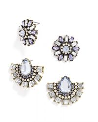 BaubleBar | Blue Cool Crystal Stud Set | Lyst