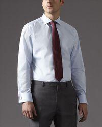 Jaeger - Blue Micro Herringbone Shirt for Men - Lyst
