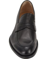 Barneys New York | Black Aprontoe Penny Loafers for Men | Lyst