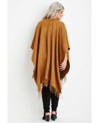 Forever 21 | Brown Plus Size Fringed Shawl | Lyst
