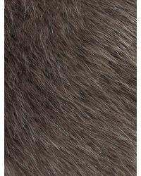 Jacques Vert - Gray Faux Fur Cossack - Lyst