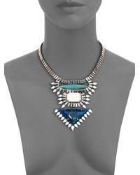 DANNIJO - Metallic Josephine Crystal Bib Necklace - Lyst