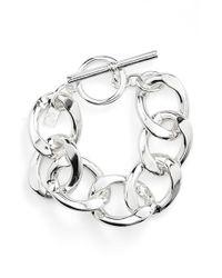Lauren by Ralph Lauren | Metallic Curb Link Bracelet | Lyst