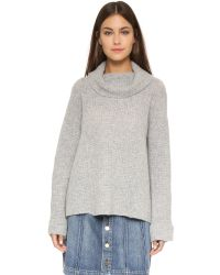 Free People | Gray Sidewinder Pullover | Lyst