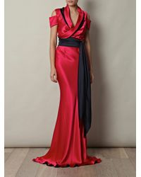 Sophie Theallet | Red Double-crepe satin gown | Lyst
