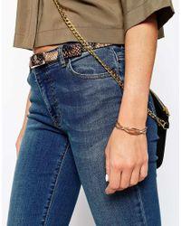 ASOS - Metallic Infinity Cuff Bracelet - Lyst