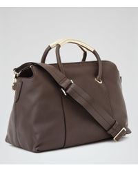 Reiss - Brown Murphey Structured Tote - Lyst