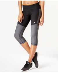 Adidas | Black Colorblocked Cropped Leggings | Lyst