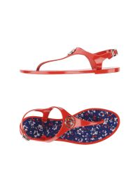 Armani Jeans - Red Thong Sandal - Lyst