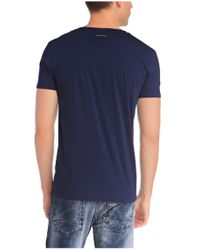 BOSS Orange | Blue T-shirt 'timblin 1' With Round Neckline for Men | Lyst