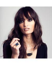 Maya Magal - Black Druzy Ring Gold - Lyst
