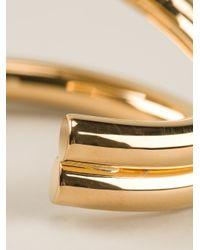 Saint Laurent - Metallic Double Curve Cuff - Lyst