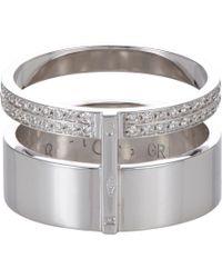 Repossi - Metallic Pavé Diamond & White Gold Berbère Module Cage Ring - Lyst