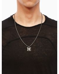 "KTZ | Metallic ""k"" Logo Pendant for Men 
