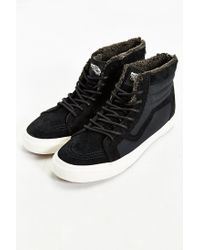 Vans | Black Sky-hi Plush Zip Sneaker for Men | Lyst