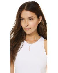 Samantha Wills | Pink Horse & Hummingbirds Necklace - Rose Gold | Lyst
