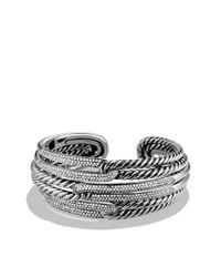 David Yurman | Metallic Labyrinth Tripleloop Cuff with Diamonds | Lyst