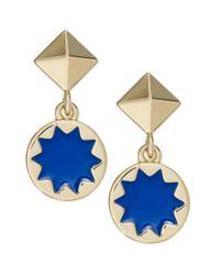 House of Harlow 1960 | Blue Goldtone Sunburst Enamel Drop Earrings | Lyst