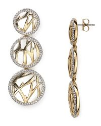 Nadri - Metallic Aurora Triple Drop Earrings - Lyst