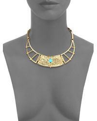 Pamela Love - Blue Sue?o Frida Turquoise Breastplate Necklace - Lyst