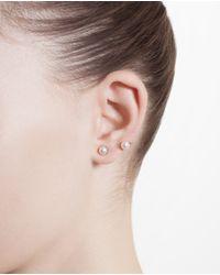 Yvonne Léon - White 18K Gold And Pearl Epingle Earring - Lyst