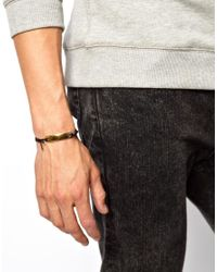 ASOS - Metallic Id Bracelet for Men - Lyst