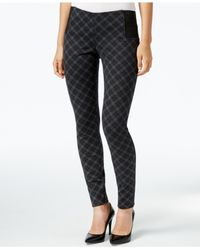 Kut From The Kloth | Gray Plaid Skinny Leggings | Lyst