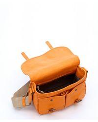Bottega Veneta | Sun Orange Intrecciato Leather Convertible Satchel for Men | Lyst