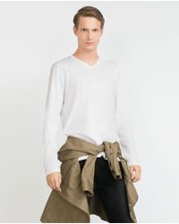 Zara | White Relaxed Fit Top for Men | Lyst