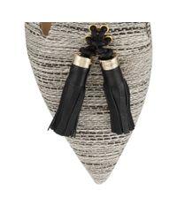 Jimmy Choo - Gray Gabby Tweed Ballet Flats - Lyst