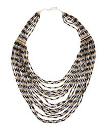Nakamol | Multicolor Multi-strand Metallic Crystal Necklace | Lyst
