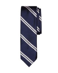 Brooks Brothers | Blue Twin Stripe Slim Tie for Men | Lyst