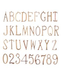 Lulu Frost - Metallic Plaza Letter + Number Custom Necklace - Lyst