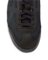 Asics | Black Lace-up Mesh Sneakers for Men | Lyst