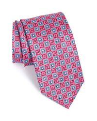 JZ Richards | Pink Geometric Grid Silk Tie for Men | Lyst
