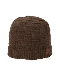 Ben Sherman - Brown Textured Knit Cap for Men - Lyst