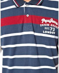 Pepe Jeans | Blue Pepe Senter Polo for Men | Lyst
