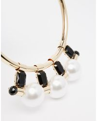 Coast | White Iona Black Bead Choker Necklace | Lyst