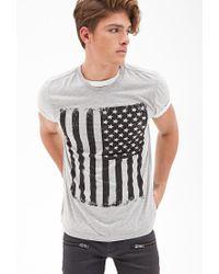 Forever 21 - Gray American Flag Tee for Men - Lyst