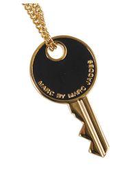 Marc By Marc Jacobs - Black Key Pendant Necklace - Lyst