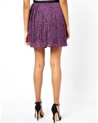 Beloved | Purple Natasha Pleated Skirt | Lyst