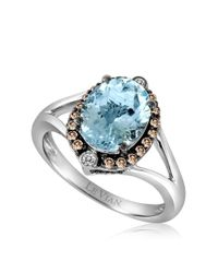 Le Vian | Blue 14k White Gold Aqua Ring With Vanilla And Chocolate Diamonds | Lyst