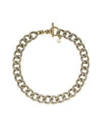 Michael Kors | Metallic Pavé Chain-link Necklace | Lyst