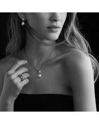 David Yurman | Metallic Three X Crossover Ring With Diamonds | Lyst