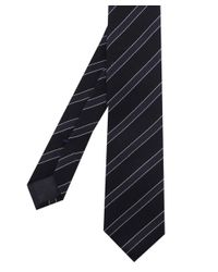 BOSS - Blue Silk Stripe Wool Tie for Men - Lyst