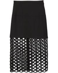 David Koma - Black Layered Lace Skirt - Lyst