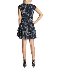 Cece by Cynthia Steffe | Black Butterfly Dropped-waist Dress | Lyst