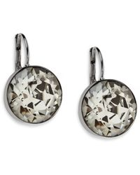 Swarovski | Natural Bella Round Crystal Earrings | Lyst