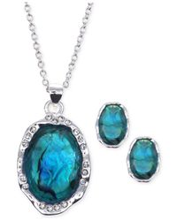 Jones New York | Blue Silver-tone Stone And Crystal Jewelry Set | Lyst