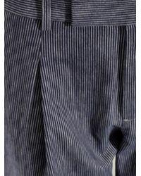 Vince - Blue Striped Cotton-Flannel Trousers - Lyst
